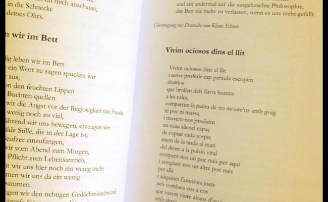 """Poemas de """"Morbo"""" traducidos al alemán por Klaus Ebner"""