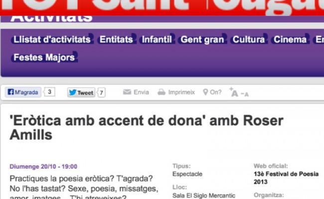 Començament d'Eròtica amb veu de dona al @siglomercantic: ha estat orgàsmic ;))
