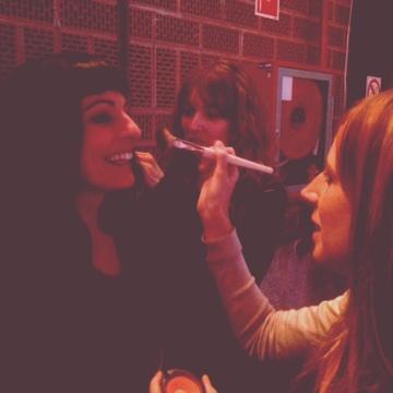 Roser Amills en TV2 maquillaje