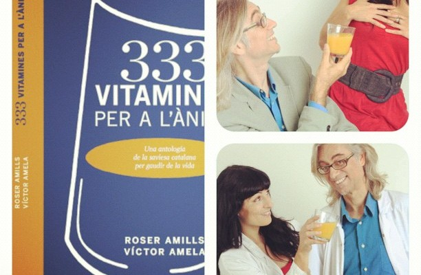 """333 vitamines per a l'ànima"" by Roser Amills and Víctor Amela goes on sale"