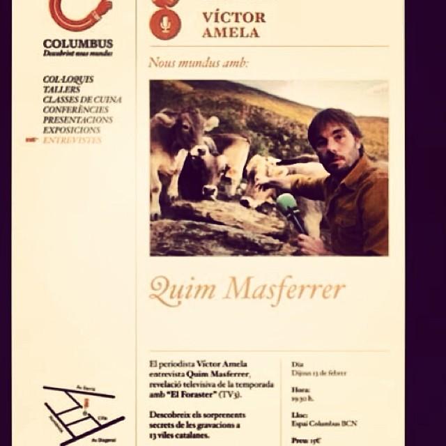Dijous 13 de febrer: El meu xicot conversarà amb el de la @xantallavina ;)) No hi falteu, @QuimMasferrer versus @victoramela