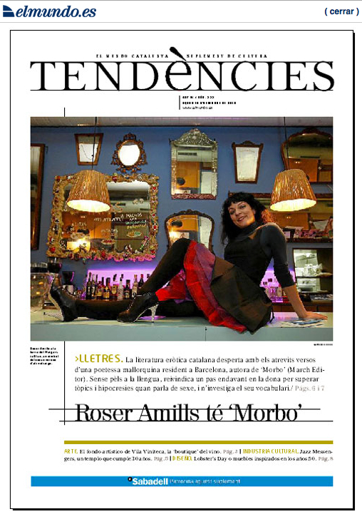 El Mundo | Suplemento Tendències: musa de la literatura erótica catalana
