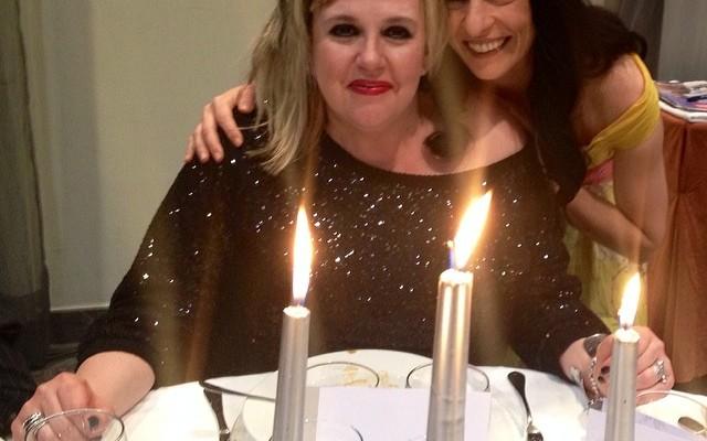 #premiosapei2014 | Con la maestra de ceremonias, Silvia Tarragona en una pausa de la cena