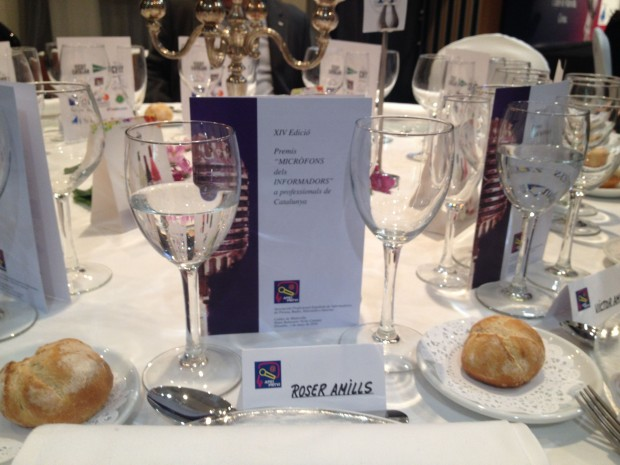 menu cena de gala premios apei 2014