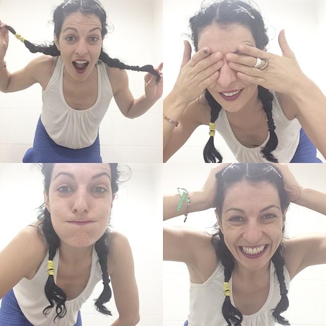 roser amills selfie trenzas divertida 2