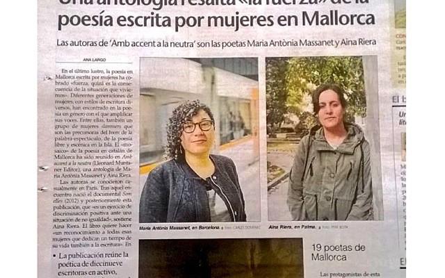 És un honor ser en aquesta antologia de poesia de dones feta a Mallorca!! @uhmallorca @analargoc ;))