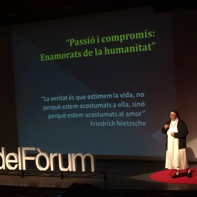 D'entrada, pensareu que no… Però Sor Lucía Caram i jo tenim molt en comú ;)) #TDEx #tedxplacaforum #Tdexpdf