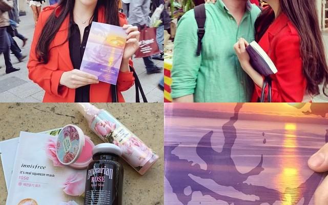 Lecturas, amor y rosas, la bella Sara Jiménez eligió regalar #elecuadordeulises y regalarme rosas de @MiiN_Cosmetics #cosmeticacoreana #belleza #alegria #gracias
