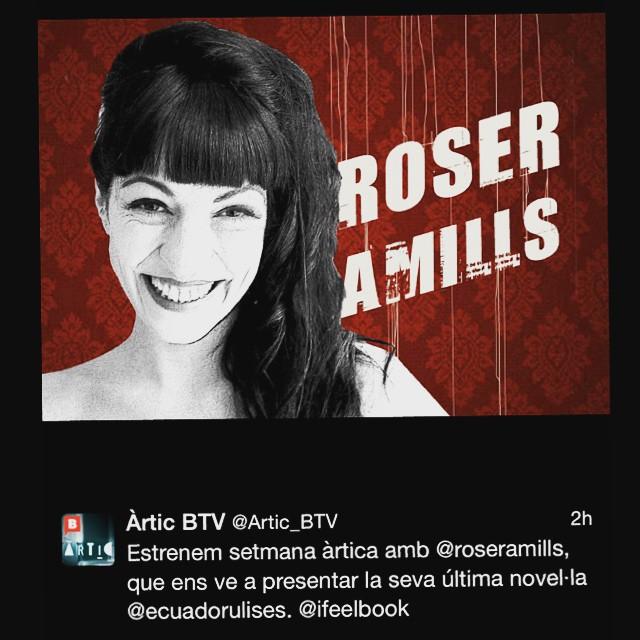 Gràcies BTV, programa Artic, FloraSaura i equip per la conversa sobre #elecuadordeulises tan agradable!!!