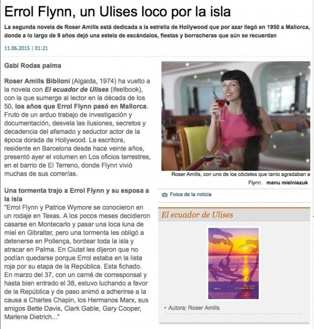 roser amills diario de mallorca el ecuador de ulises junio 2015