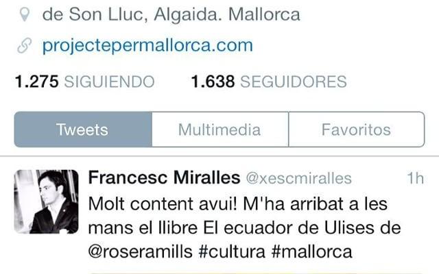 Molt orgullosa de la generosa atenció del @xescmiralles, seguiu-lo! #FF divendres d'agost ;))