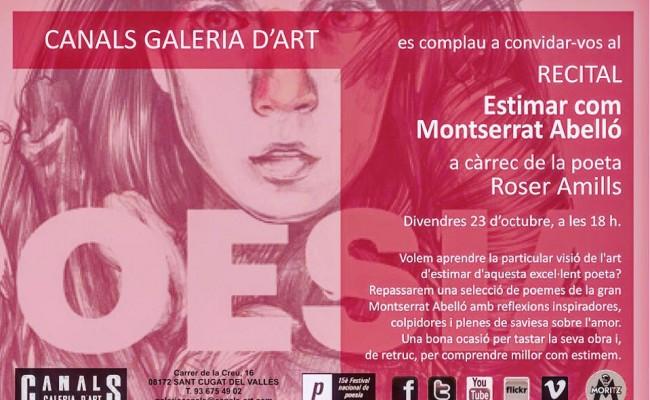 """Montserrat Abelló: """"Qualsevol poema que no surti de la teva veritat no val res"""" Demà 18h #SantCugat"""
