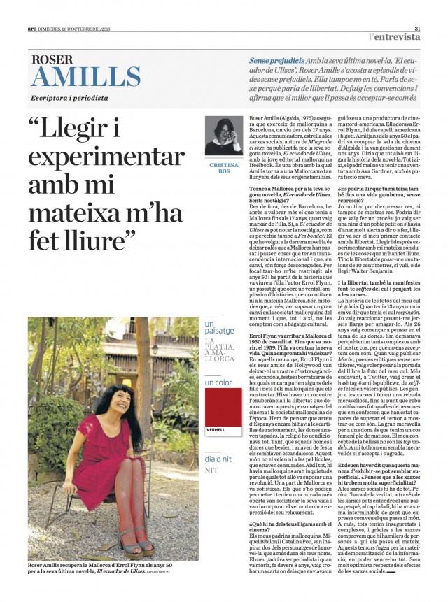 Roser Amills entrevista diari ARA