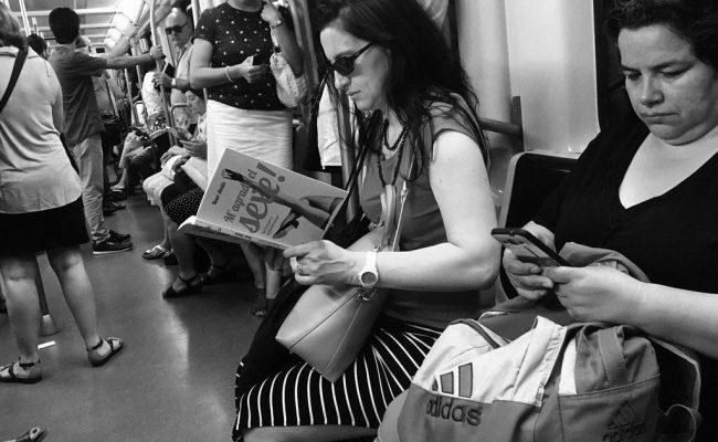 Mil gràcies, @ganyet per aquesta foto de #magradaelsexe al metro!!
