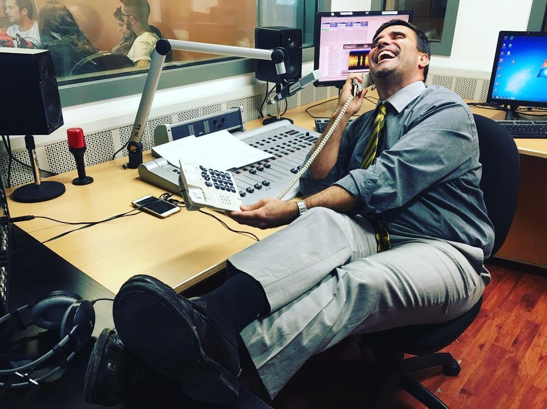 El @perezesquerdo m'ha fet l'estudi d'audiència de @lasegonahora #RAC1! No us ho perdeu, a les 13h!