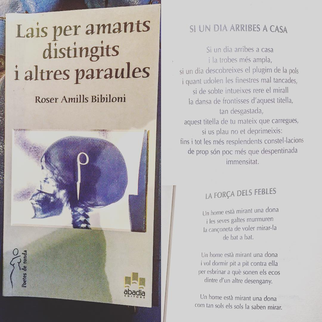 Bona tarda amb uns poemes de #laisperamantsdistingits (Abadia, 2004) #poetry