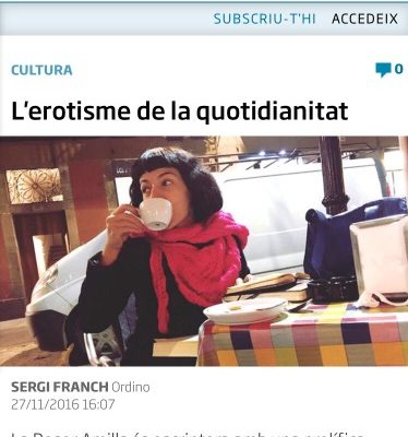 Diari ARA Andorra   L'erotisme de la quotidianitat