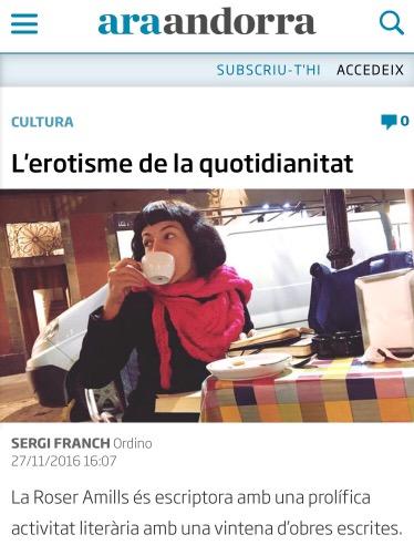 Diari ARA Andorra | L'erotisme de la quotidianitat