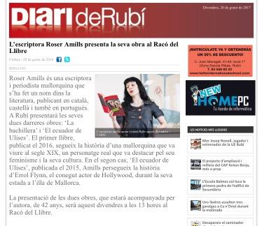 Diari de Rubí | L'escriptora Roser Amills presenta la seva obra al Racó del Llibre