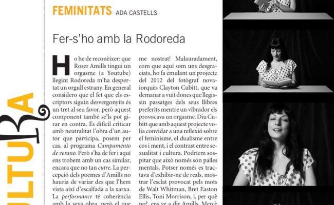 """Fer-s'ho amb la Rodoreda"", #adacastells parla de #elplaerdelalectura #mercerodoreda #orgasme"