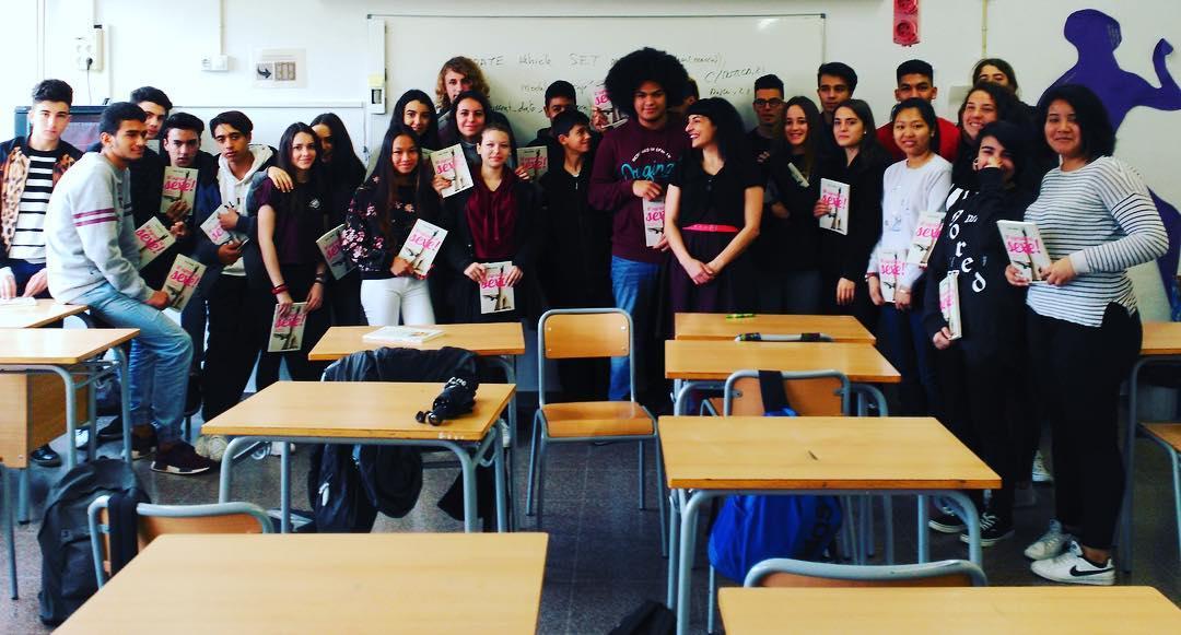 Bonito recuerdo de los alumnos de 4° de ESO con los que he conversado hoy en #Rubí