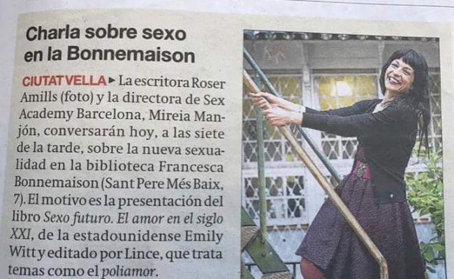Hoy es el gran día! Presentamos #sexofuturo en la Francesca Bonnemaison a las 19h 💕 #sexofuturo #emilywitt @lince_ediciones @elperiodico_cas @elperiodico_cat
