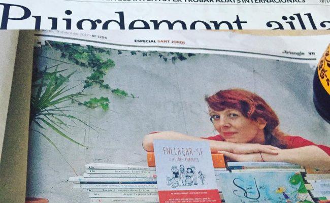 Començo a llegir el setmanari El Triangle i hi trobo entrevista de Cristina Moreno a la #bertarubiofaus :)) #amigues i grans dones!