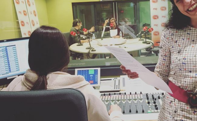 Som-hi! A les 17h ens podreu escoltar a #anemdetarda de Goyo Prados a @radio4_rne :))