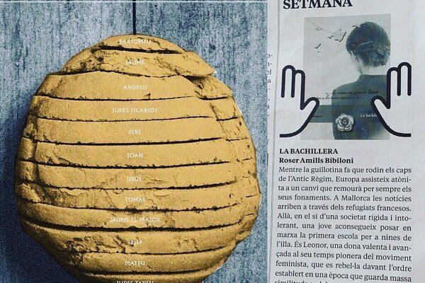 Me hizo muchísima ilusión que la novela #labachillera fuera el libro recomendado de la semana en el Setmanari de Felanitx!