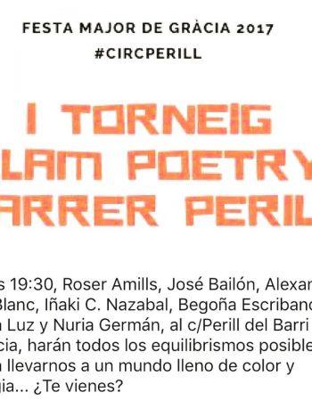 Venid! El jueves hay recital en carrer Perill #festesdegracia #circperill