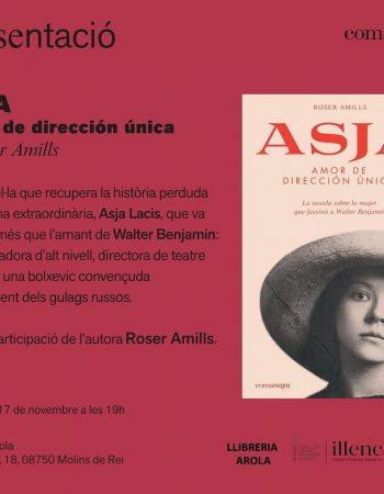 "En 30 min. començo la presentació de la meva novel·la ""Asja. Amor de dirección única"" a #LlibreriaArola de Molins de Rei 💕"