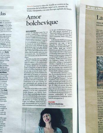 Hoy podéis leer lo que cuenta @hormaecheamarta en el suplemento Culturas de @lavanguardia #asjalacis & #walterbenjamin Gracias por esta preciosa reseña!!! La foto me la hizo @albertocalaf