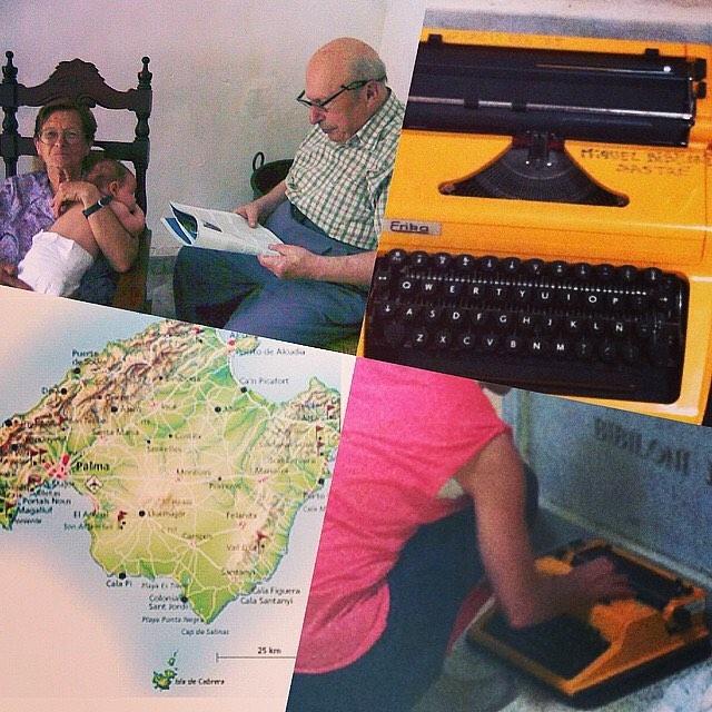 El 2 de febrero se cumplen 10 años de la muerte de mi abuelo Miquel Bibiloni Sastre. Le llevé una máquina de escribir amarilla al cementerio en vez de flores, él escribía guiones de cine… Por él escribo