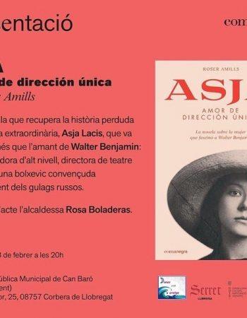 Dimecres 28 de febrer a les 20h, presento la meva novel·la #Asja a la biblioteca Municipal Can Baró de #CorberadeLlobregat L'acte està inclòs dins de les activitats del #diadeladona i el presenta la #rosaboladeras periodista i alcaldessa de Corbera, i hi col.laboren @octavio_serret i @lolamatista. En acabar, copeta de cava. Organitza: l'Associació de Dones amb Coratge de Corbera i col·labora #llibreriaserret de #vallderroures #matarranya 👏👏👏👏👏👏👏👏👏👏👏👏💕