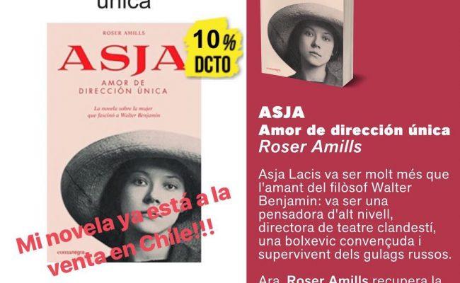 Me hace muy feliz saber que esta semana mi novela sobre la relación de #asjalacis & #walterbenjamin se ha puesto a la venta en Chile!! Gracias @buscalibros 📚💕