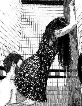Un día la gran @apollonia.saintclair me dibujó a partir de una foto y me puso este compañero de dibujo :)) Es un lavabo del #barridegracia