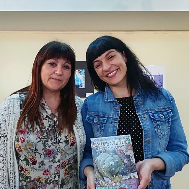 """Avui he conegut a la Conchi a la presentació d'""""Asja. Amor de dirección única"""" a la @bllagosta. Gràcies per fomentar la lectura com ho feu!!!"""