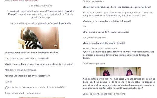 Aquí os dejo la entretenida entrevista que me hicieron mis admirados valencianos @canibaal :)) Seguidlos, son talentosos y muy majos