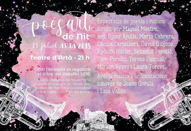 El dissabte vespre és el moment del PoésArt de Nit, el moment en què podeu veure als poetes recitant junts i dins el teatre