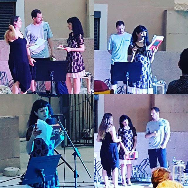 Hem recitat #lauratorres #davidguijosa i servidora al @festival_poesart