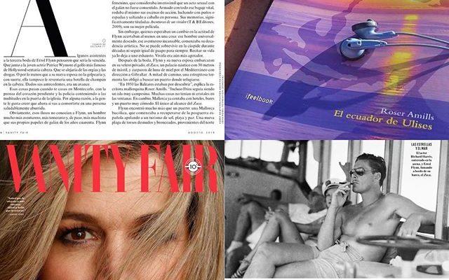 Te atreves a abrir #elecuadordeulises y viajar con Errol Flynn, Robert Graves y Ava Garner a la Mallorca de los 50? El n° de este mes de @vanityfairspain lo hace, aquí lo que les conté del protagonista de mi novela, #errolflynn en Mallorca