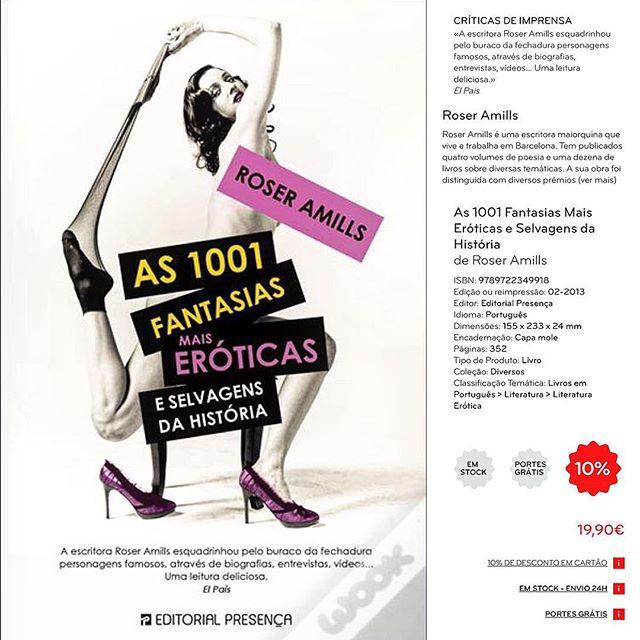 Mi libro #1001fantasías está a la venta en Portugal, con @editorial_presenca