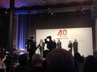Gracias @europapress por 40 años de información veraz, actual e independiente. Un placer celebrarlo hoy con vosotros en #antigafabrica #europapress #40aniversario #periodismo