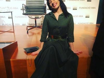 Hoy mi maravillosa Yolanda Calvo me ha vestido así de bonita de #ottovanrhuskbcn Foto de Carlos P. Iglesias