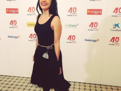 #photocall del #40aniversario de @europapress, 40 años de información. Un placer celebrarlo con vestido y bolso de @surkana