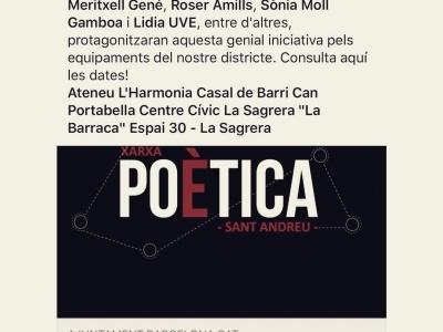 Us espero el 15 de febrer a les 20h al CC La Barraca: farem un itinerari poètic, amb sentit de l'humor i alegria, per l'erotisme femení