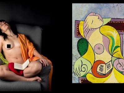 La Lecture (Pablo Picasso, enero 1932) y La Lectura (Raimon Moreno, enero 2019) en el 87 aniversario de que Marie-Thérèse Walter se durmiera con un libro sobre su regazo