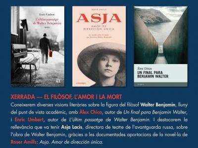 Coneixerem diverses visions literàries sobre la figura del filòsof Walter Benjamin, amb Àlex Chico, Roser Amills i Enric Umbert