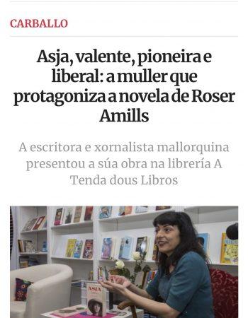 La Voz de Galicia | Asja, valente, pioneira e liberal: a muller que protagoniza a novela de Roser Amills
