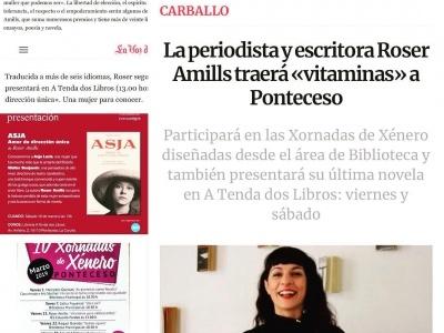 Viernes y sábado estoy en Galicia. @atendadoslibros @juliaponteceso #xornadasdexénero @concelloponteceso